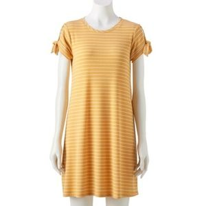 LC Lauren Conrad Striped Tie-Sleeve Swing Dress